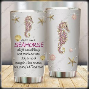 Advice from a seahorse treasures tumbler