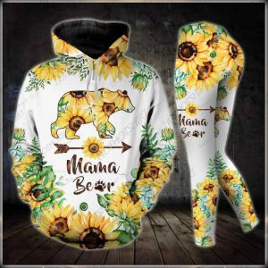Mama bear floral flower 3d hoodie and legging