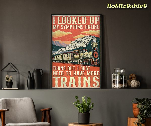 Model Railroad i just need to have more trains poster 1