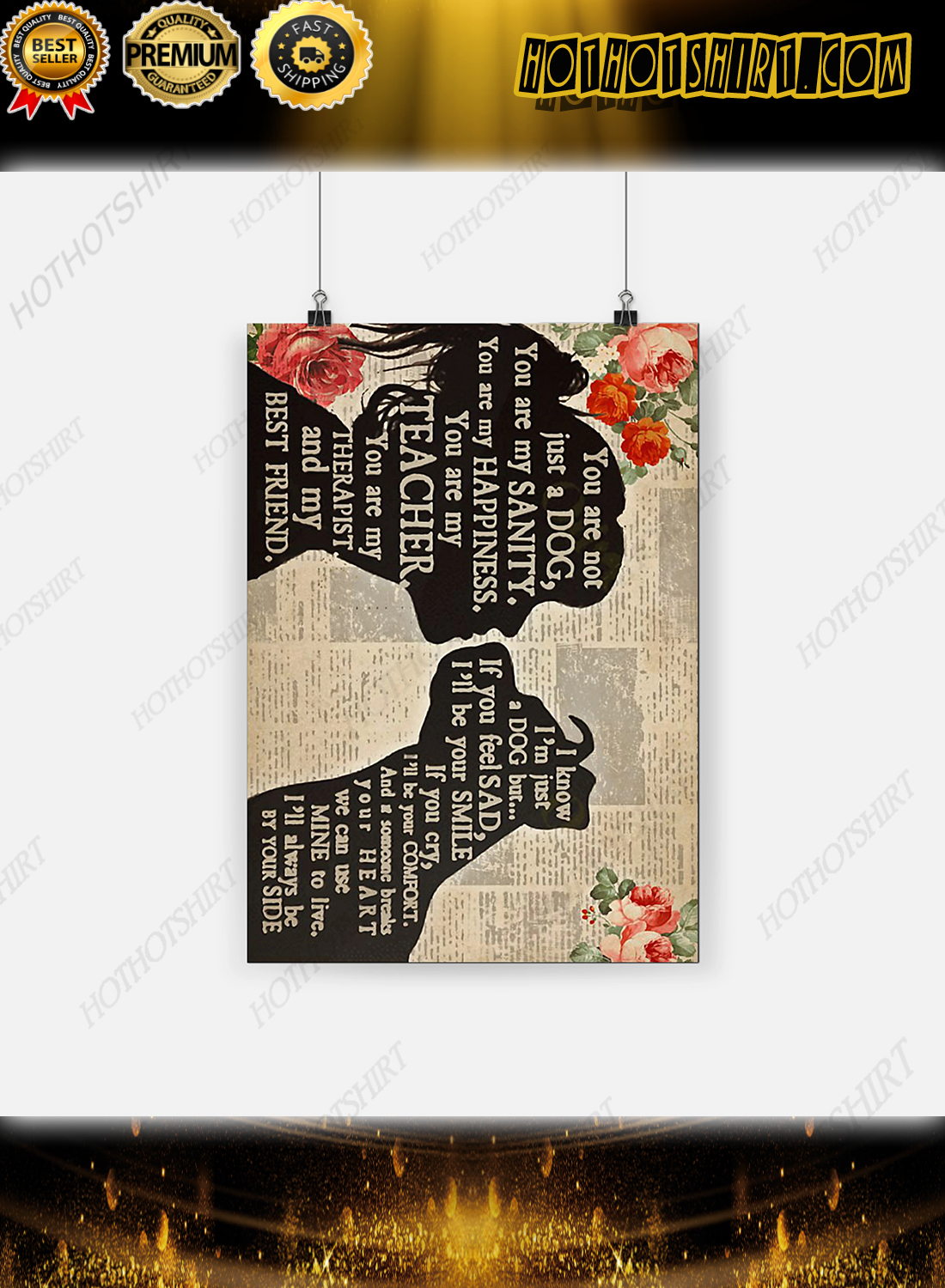 Pitbull girl therapist best friend poster wall art 3