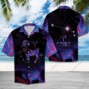 Zodiac Aries Horoscope Hawaiian Shirt