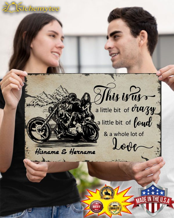 Motorcycle this is us custom name poster