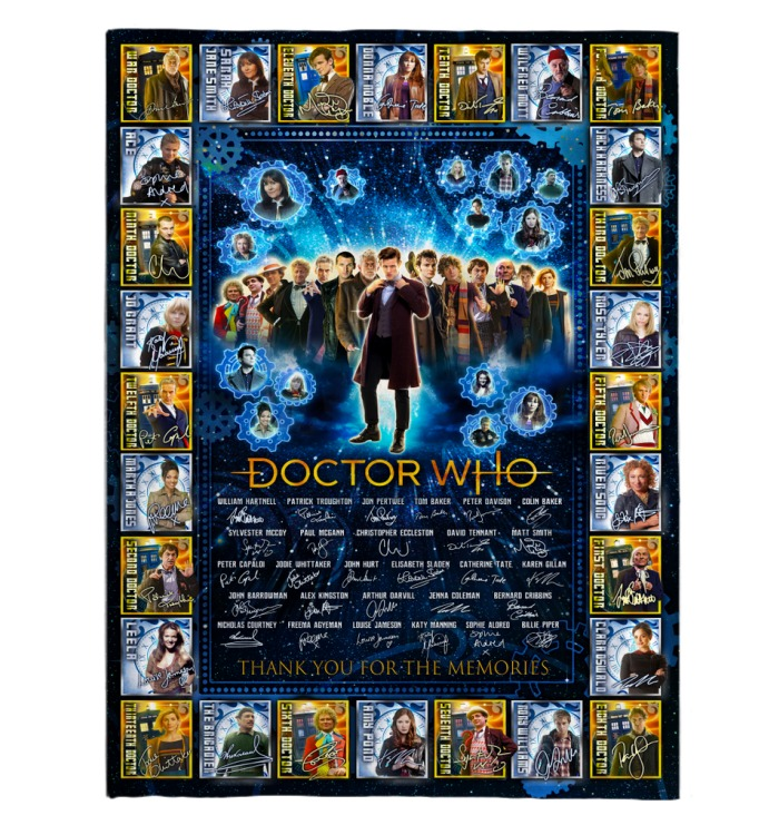 Doctor Who Thank you for the memories blanket 1