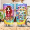 Hippie girl assuming i'm just an old lady custom name tumbler