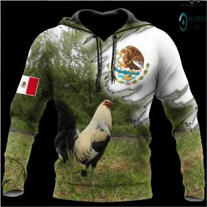 Mexican rooster 3D full printed hoodie and shirts