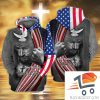 One Nation Under God White Dove 3d Hoodie