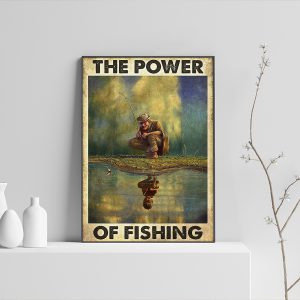 The power of fishing poster