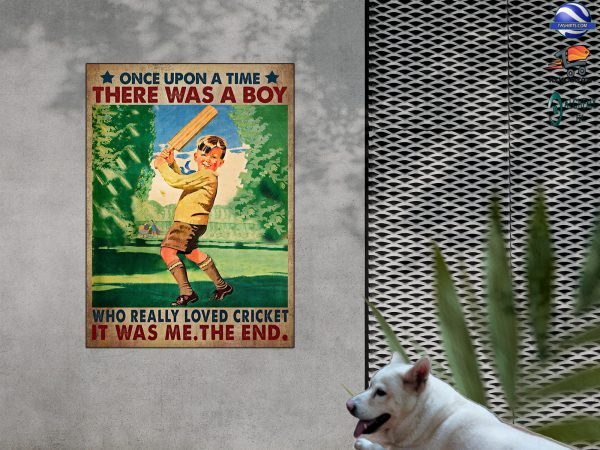 There was a boy who really loved cricket it was me the end poster