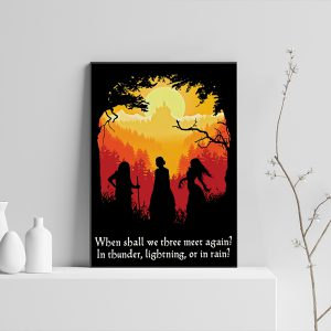 Witches when shall we three meet again in thunder lightning or in rain poster
