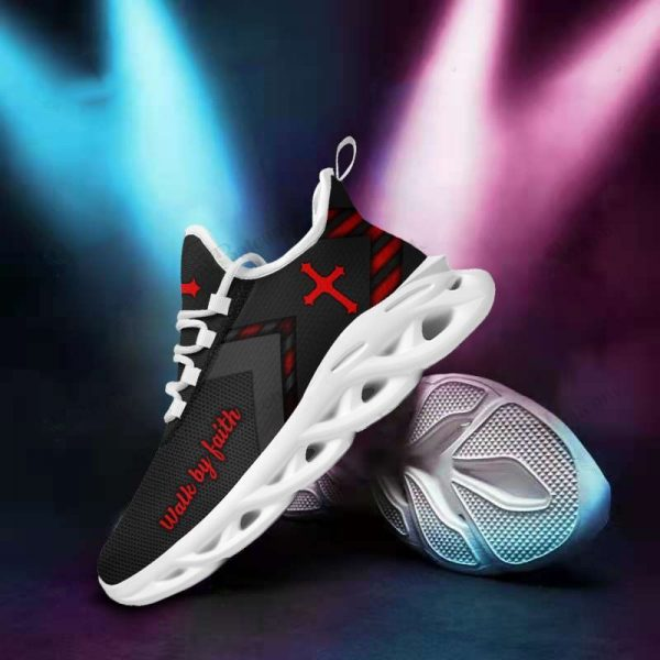 Jesus yeezy running walk by faith max soul shoes