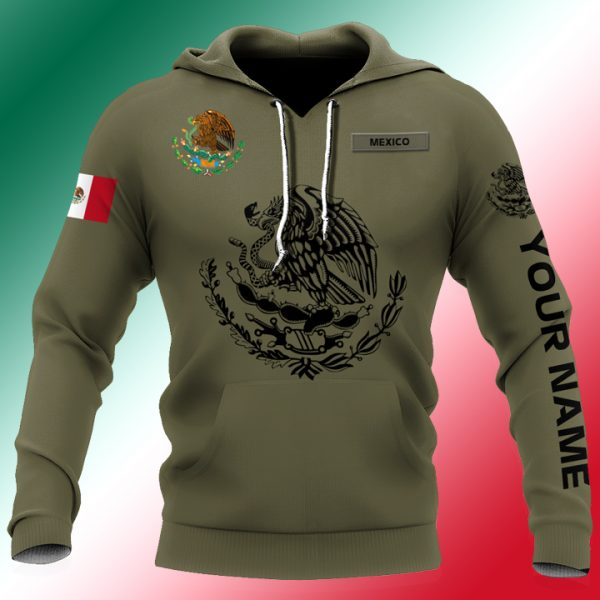 Personalized Mexican Mexico 3D All Over Printed Unisex Hoodie