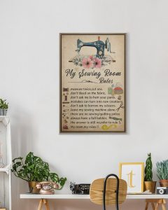 My sewing room rules poster