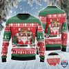 Hereford Cattle Lovers Christmas Van All Over Print Ugly Sweater