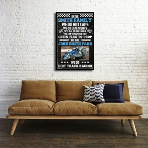 Personalized name Dirt Track Racing We Do Hot Laps Poster and Canvas